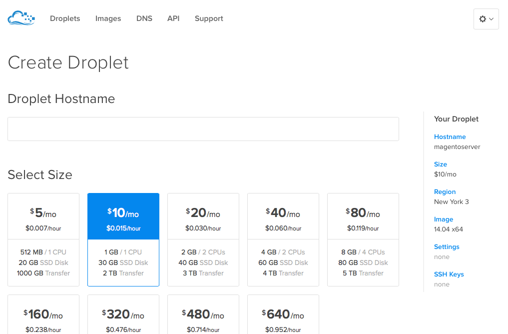 Create a Laravel server at DigitalOcean